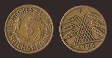 GERMANIA GERMANY 5 REICHSPFENNIG 1925 F
