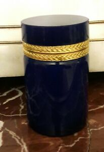 Vintage antique Rare french Royal navy  opaline box  .WOW
