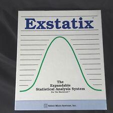 Vtg Macintosh Software EXSTATIX Statistical Analysis for Mac CLASSIC Sealed Box