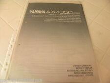 Yamaha AX-1050 des Besitzers Manuell operating Anweisungen Anleitung neu