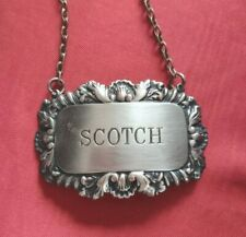 More details for vintage  silver plated decanter label scotch  great gift uk free p&p
