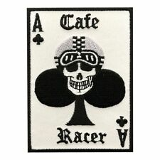 ACE CARD  CAFE RACER EMBROIDERED BIKER PATCH