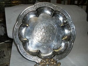 """Reproduction by Gorham for Horizon, Nelson Gallery, 9""""silver Chinese Plate"""