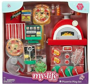 """My Life As Pizzeria Play Set for 18"""" Dolls, 64 Pieces"""