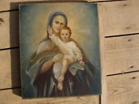 Ancient Icon. Theotokos with the Child Jesus Christ, Russia 19th Century