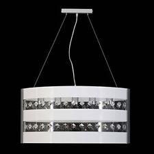 Lampadario In Cristallo e Plexiglass Vari Colori 5 LUCI Design Moderno Salone