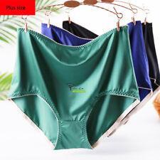 XL-3XL Silky Satin Women Ladies Briefs Knickers High Waist Underwear Panties P50