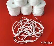 4 Meter Gummiband für Mundbedeckung | Gummi / Gummilitze ✅bis 110°C bügelbar!