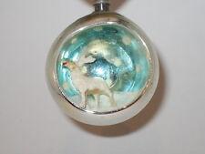 3D Deer Diorama Vintage Christmas Ornament Decoration Japan Antique Glass 1950's
