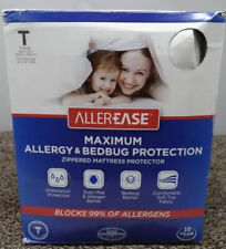AllerEase Maximum Allergy & Bed Bug Protection Mattress Protector Twin