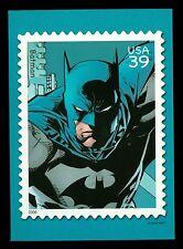 Batman USPS 39c Stamp DC Comics Heroes 5x7 Postcard