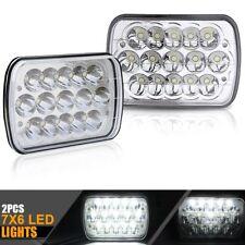 7x6 H6054 H6052 H6014 Hi/Lo Beam Clear Chrome Head Light Headlight Pair Pickup