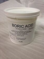 BORIC ACID NATURAL INSECTICIDE TECHNICAL GRADE 5 POUNDS