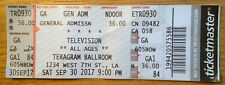 TELEVISION (TOM VERLAINE) Reunion 9/30/2017 Teragram Ballroom LA Original Ticket