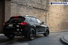 20x10 +40 Rohana RC22 5x114 Black Wheel Fit Infiniti Fx37 2013 5x4.5 Concave Rim