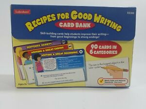 Lakeshore Card Bank - Recipes For Good Writing- EE388 - Home School - 8+