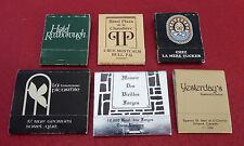 Vintage Match Book Lot of 6 ! Terrasse Picarole Hotel Plaza de la Chaudière