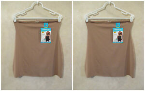 LOT OF 2 SHAPERCISE XL 12-14 Cafe Brown Cool Smoothing Light Control Half Slips