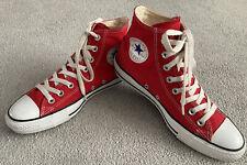 Converse All Star Chuck Taylor Red High Tops Unisex Mens UK7 Women's UK9