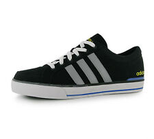 Adidas Mens Black Grey Yellow Neo Label BBNeo Skool Lo Trainers Size 7.5 RRP£50