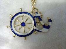 Collier doré ancre marine barre navigation matelot marin pinup retro vintage