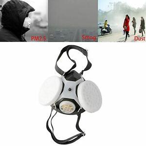 Paint Spray Half Face Mask Respirator Air Safety Filter Dual Cartridge