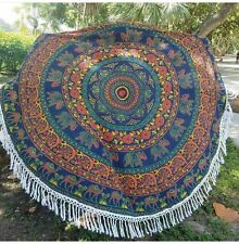Indian Mandala Elephant Wall Hanging Beach Throw Yoga Mat Boho Tapestrie Ethnic