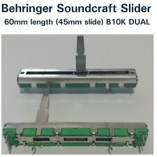 Behringer Soundcraft  Mixer Fader / Slider 60mm (travel 45mm) dual B10K x 2