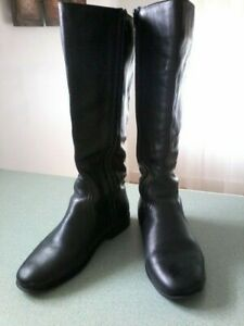 Silk Sisters Wendy WIDE CALF Leather BOOTS Size 9