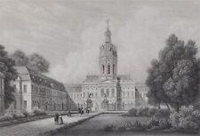 Berlin Charlottenburg alter Stahlstich um 1850