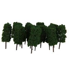 50x Dark Green Cylinder Tree Model Train Railroad Layout Park Scenery 1:100
