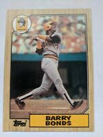 BARRY BONDS 1987 TOPPS #320 RC & 10 Other Cards Pittsburgh Pirates 11 CARD LOT!