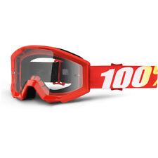 100/% Strata Jr MX Goggles Honda Red MEDIUM Kids Youth Childrens Motorbike
