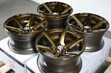 15x8 Effect Wheels Rims 4x100 Aveo Cobalt Escort Accord Civic Miata Corolla Aveo