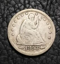 1853 Liberty Seated Quarter - Arrows & Rays - VF ~ INV#6783