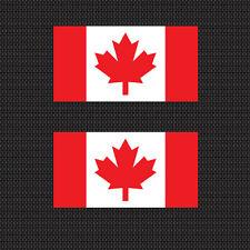 "2x Canadian Flag 4"" Sticker Die Cut Decal graphic canada"