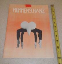 VINTAGE THEATER PROGRAM-MUMMENSCHANZ