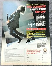 Jimmy Page / 1988 The Ultimate Rip-Off Contest Magazine Print Ad + Free Dvd