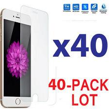 40x Wholesale Lot Tempered Glass Screen Protector for Apple iPhone 6 Plus