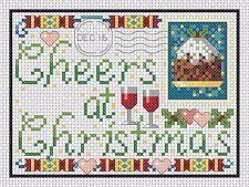 Tarjetas Navidad - Pudín & Muñeco Punto de Cruz Kit Completo #4-3/4