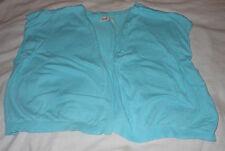 Old Navy Girls Juniors Aqua Blue Sleeveless Knit Sweater Jacket Outerwear XL