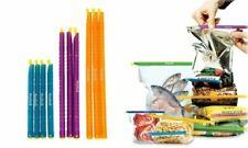 50 x Anylock Food Bag Sealing Clips Reusable Seal Clip 3 Sizes Keep Food Fresh