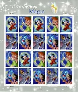 USA - 2007 MAGIC OF DISNEY - MNH - Complete Sheet SC #4192-95 - 41 Cents Values