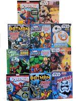 Batman Spider-Man Star Wars Green Lantern Marvel DC Jumbo Coloring Activity Book