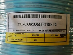Commscope Optical 12 Fiber Cable 300 OM3 Multimode 1000 Feet NEW LOWER PRICE!