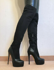 High Heels Plateau Stiefel Damen Männer Boots EU42 UK8 US11 16,5cm / 4cm Heels