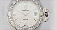 Ladies Diamond Saratoga Date Watch with $4700 Appraisal, Original Box, & Papers