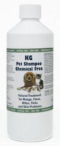 KG Wash & Go Pet Shampoo 500ml for mange, fleas, ticks, mites & itchy skin.