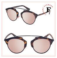 CHRISTIAN DIOR SO REAL Matte Havana Rose Mirrored Metal Sunglasses DIORSOREAL