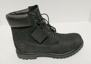 """Timberland Premium 6"""" Boots, Black Leather, Women's 9.5 Wide"""